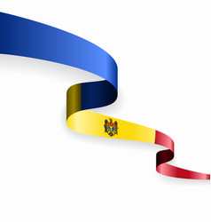 Moldovan flag wavy abstract background vector