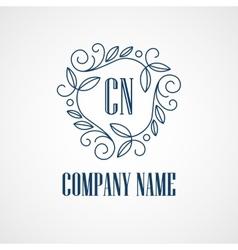 Monogram Logos Vintage Concepts vector image