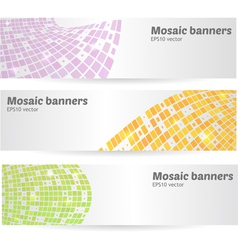 Mosaic banners set vector
