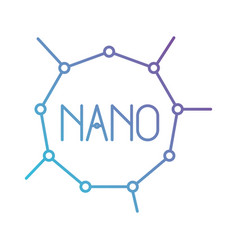 Nano molecular structure in color gradient vector
