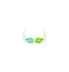 nature green leaf organic logo vector image