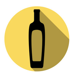 Olive oil bottle sign flat black icon vector