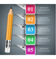 Pencil education icon business infographic vector