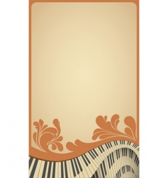 Piano poster vector
