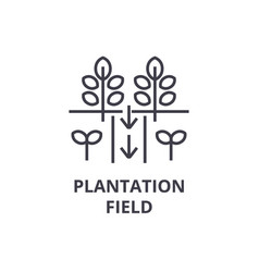 plantation field line icon outline sign linear vector image