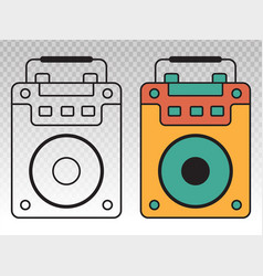 Portable speaker active flat icon vector