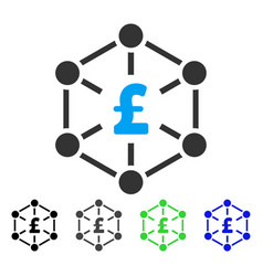 Pound finance network flat icon vector