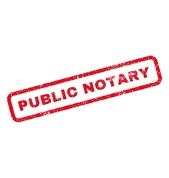 Public Notary Rubber Stamp vector image