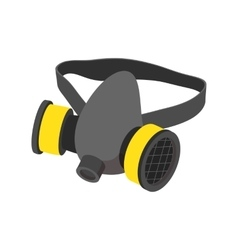Respirator cartoon icon vector