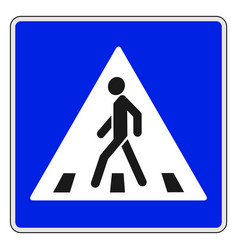 roadsigns on the white crosswalk vector image