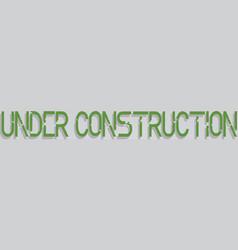 Robot under construction concept eps 10 vector