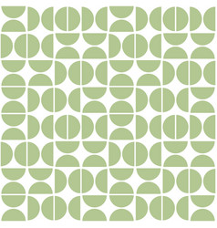 seamless geometric pattern with semicircles mid vector image