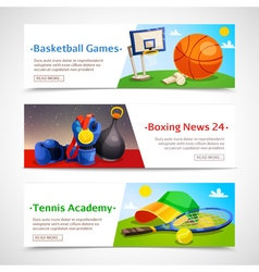 Sport Horizontal Banners vector image