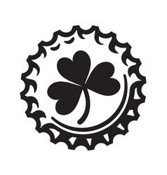 st patricks day symbol shamrock clover leaf on vector image