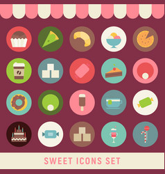 sweet icons vector image