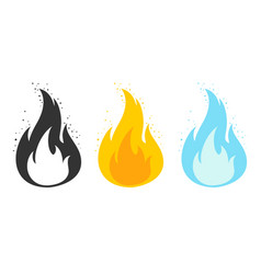 template flame for games vector image