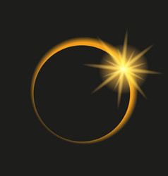 total eclipse of the sun in dark sky vector image