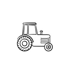 tractor hand drawn sketch icon vector image