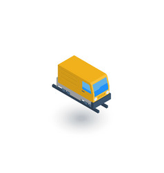 train head railway isometric flat icon 3d vector image