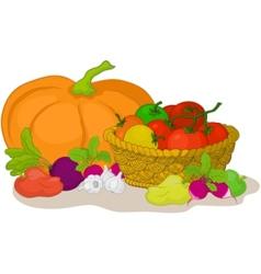 vegetables still life vector image