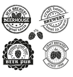 Vintage brewery logo emblems and badges vector