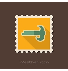 Wind flat stamp Meteorology Weather vector