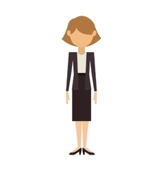 Woman in dress and jacket with short hair vector