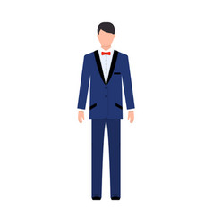 Young groom in a wedding suitwedding single icon vector