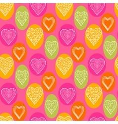 Abstract bright hearts vector image vector image