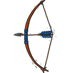 child wooden longbow vector image vector image