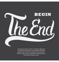 Hand drawn typography poster vector image