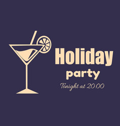 holiday party invitation poster tonight at 2000 vector image