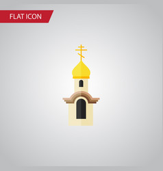 isolated christian flat icon structure vector image