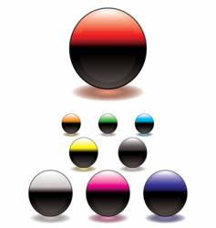 split circle button vector image vector image