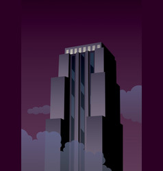 art deco tower vector image vector image