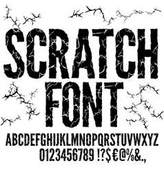 Cracked Font vector image