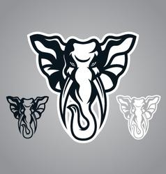 elephant head design logo vector image vector image
