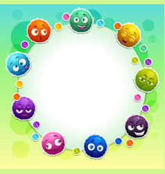 funny childish banner with cute colorful fluffy vector image
