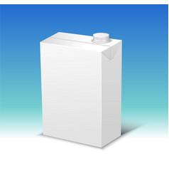 milk or juice pack realistic vector image