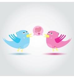 Birds love each other A vector image