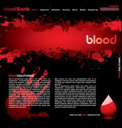 blood web vector image vector image