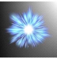 Blue color design with a burst EPS 10 vector image vector image
