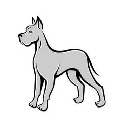 dog line art drawing can be used as logo vector image