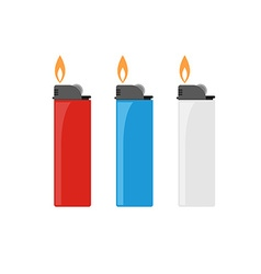 Lighter Icon Set vector image