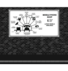 Mobile Phone Shop Advertising board vector image