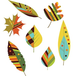 Seamless colourful autumn leaves vector image vector image