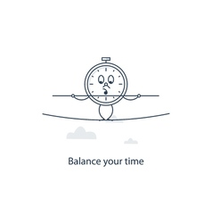 Time management concept vector