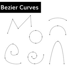 bezier curves set vector image vector image