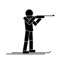 biathlon flat icon vector image