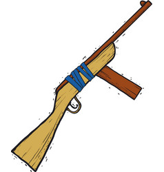 child wooden gun vector image